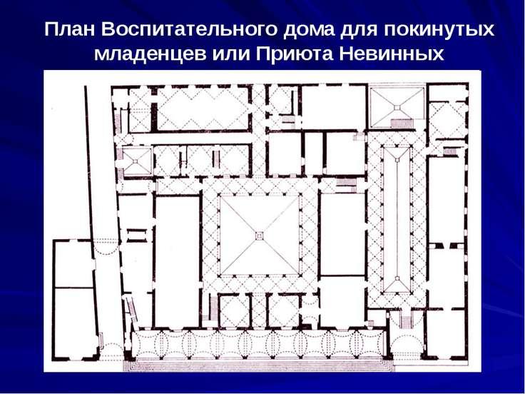 План Воспитательного дома для покинутых младенцев или Приюта Невинных