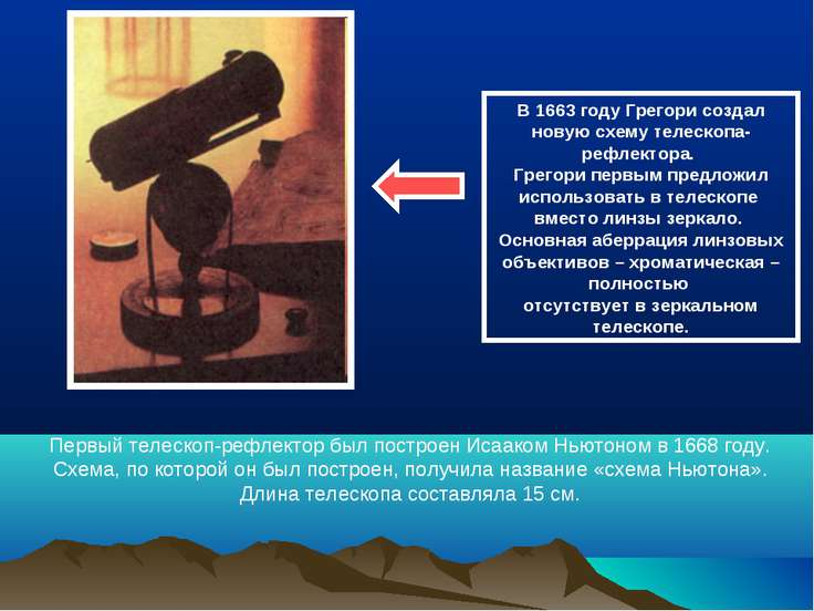 В 1663 году Грегори создал новую схему телескопа-рефлектора. Грегори первым п...