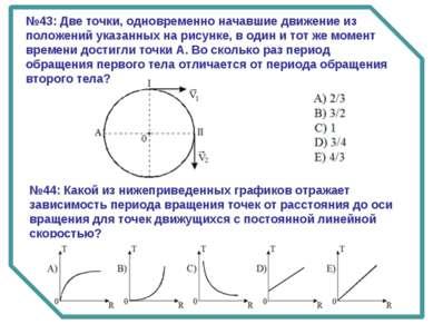 №43: Две точки, одновременно начавшие движение из положений указанных на рису...