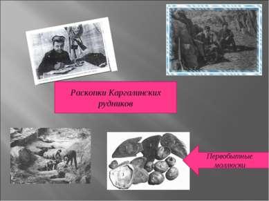 Раскопки Каргалинских рудников Первобытные моллюски