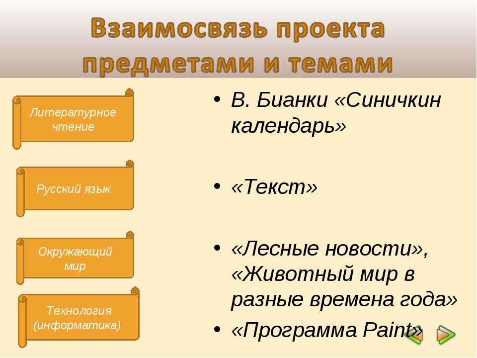 Литературное чтение Технология (информатика) Русский язык Окружающий мир В. Б...
