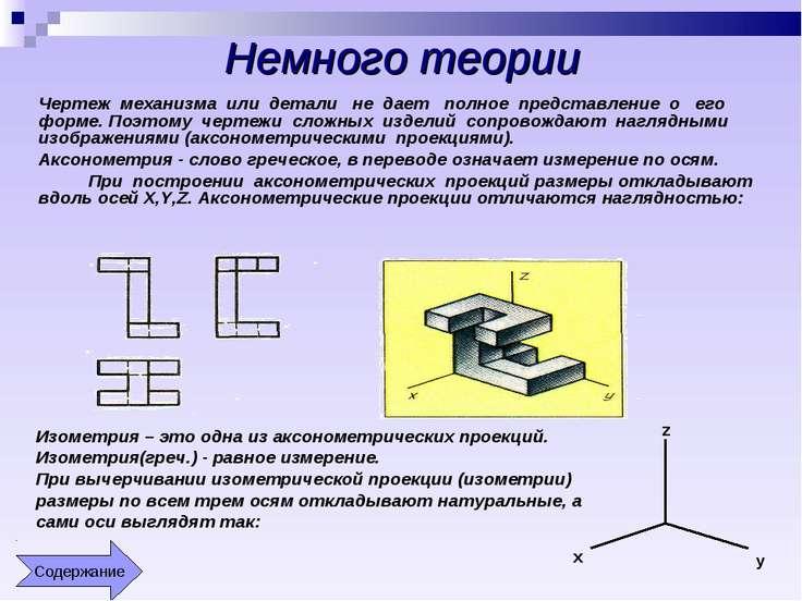 Немного теории Чертеж механизма или детали не дает полное представление о его...