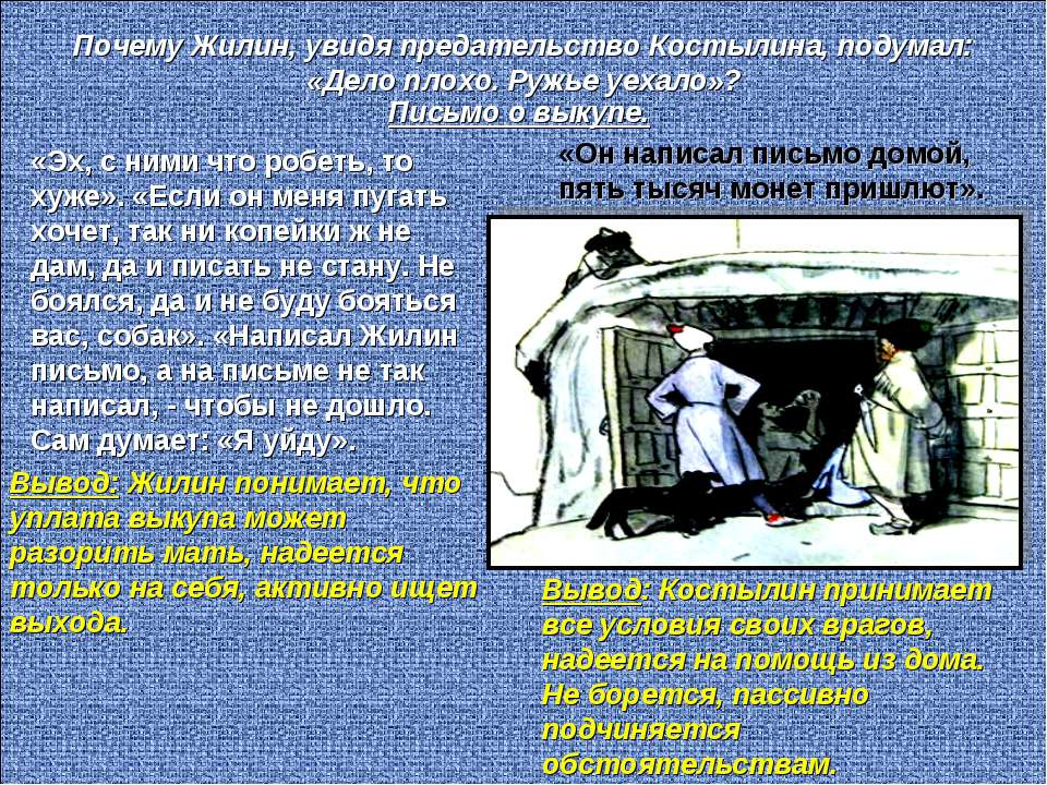Почему Жилин, увидя предательство Костылина, подумал: «Дело плохо. Ружье уеха...