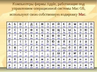 Компьютеры фирмы Apple, работающие под управлением операционной системы Mac O...