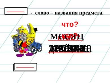 - слово – названия предмета. кто? что? что? кто?