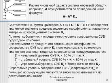 Российский морской регистр судоходства * Расчет численной характеристики ключ...