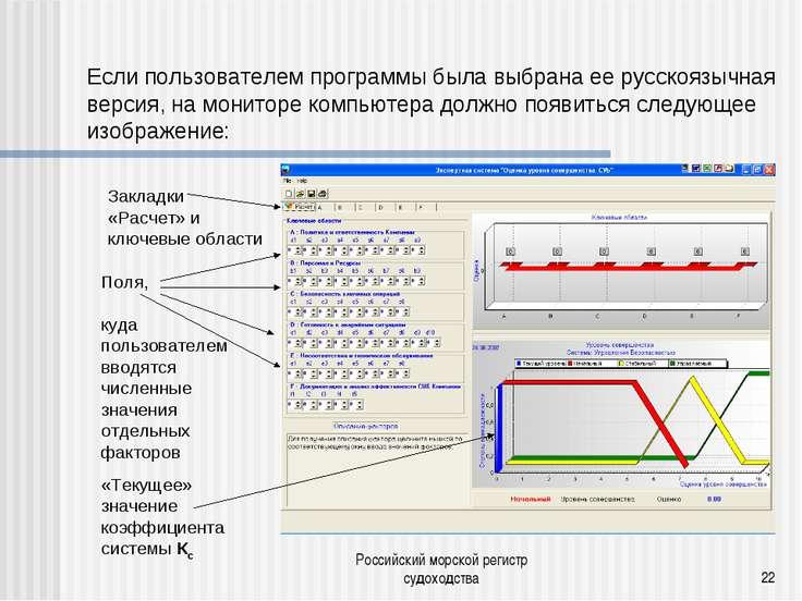 Российский морской регистр судоходства * Если пользователем программы была вы...