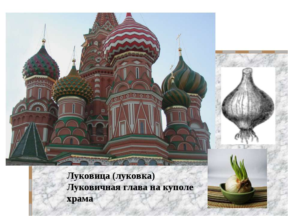 Луковица (луковка) Луковичная глава на куполе храма