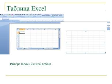 Таблица Excel Импорт таблиц из Excel в Word