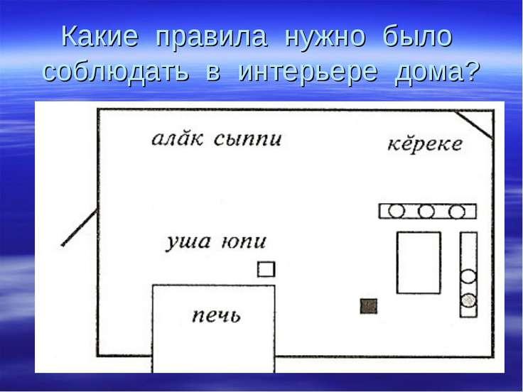 Какие правила нужно было соблюдать в интерьере дома?