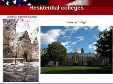 Residential colleges Jonathan Edwards College Davenport College