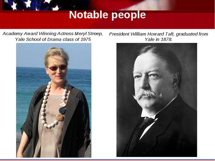 Notable people Academy Award Winning Actress Meryl Streep, Yale School of Dra...