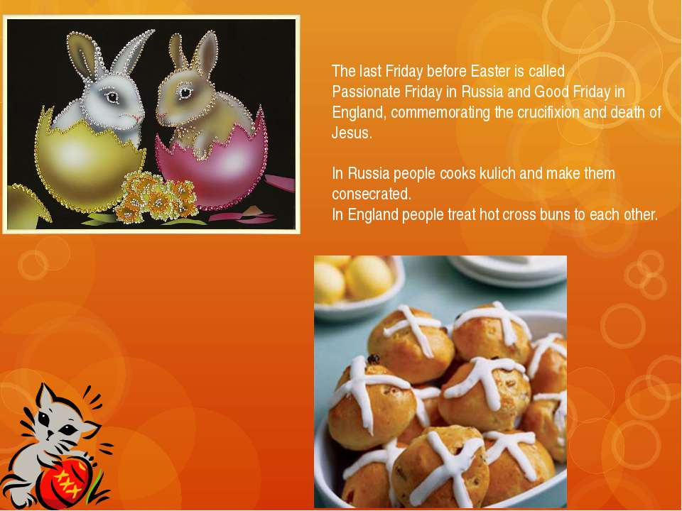 Eggs On the Easter people traditionally give to each other presents-Easter eg...