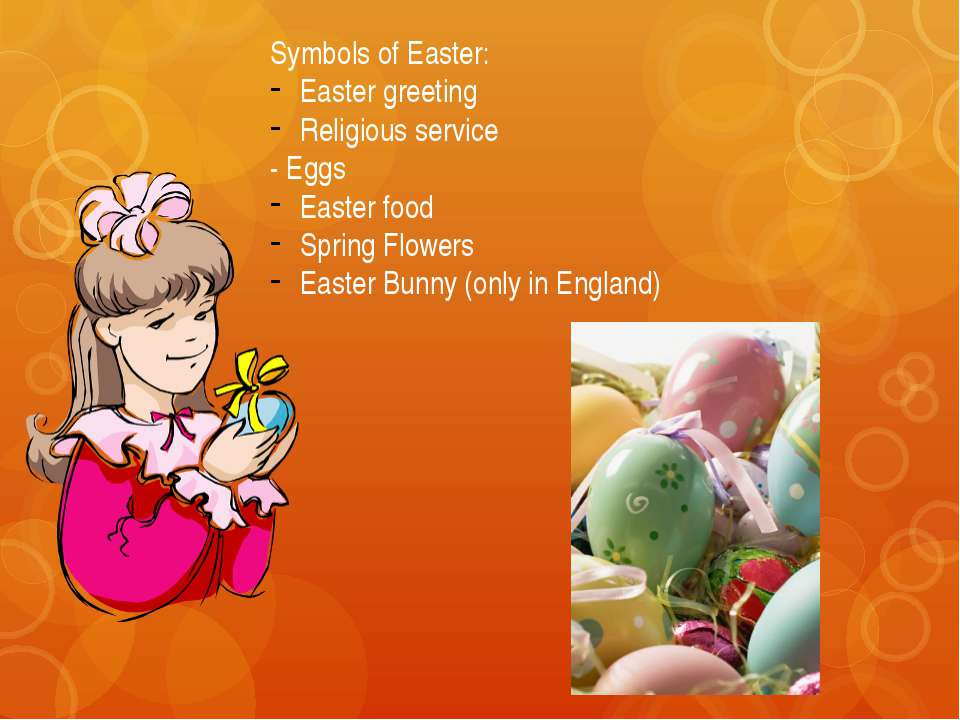 Easter food In England: The traditional Easter entertainments are meat medovo...