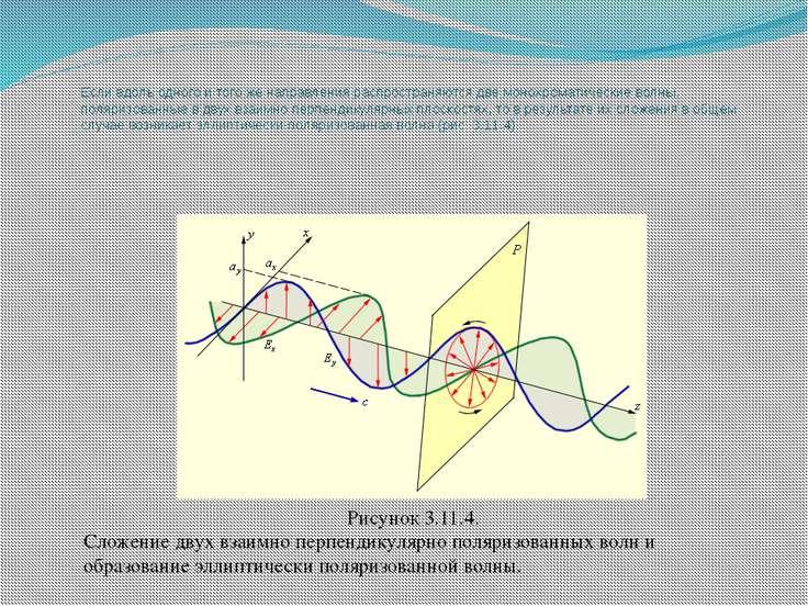 Если вдоль одного и того же направления распространяются две монохроматически...