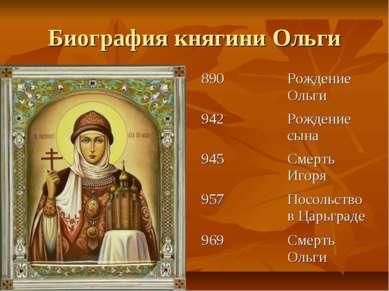 Биография княгини Ольги