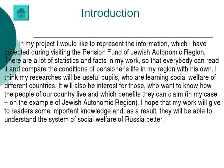 Introduction In my project I would like to represent the information, which I...