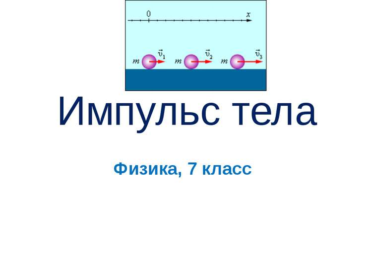 Физика, 7 класс Импульс тела