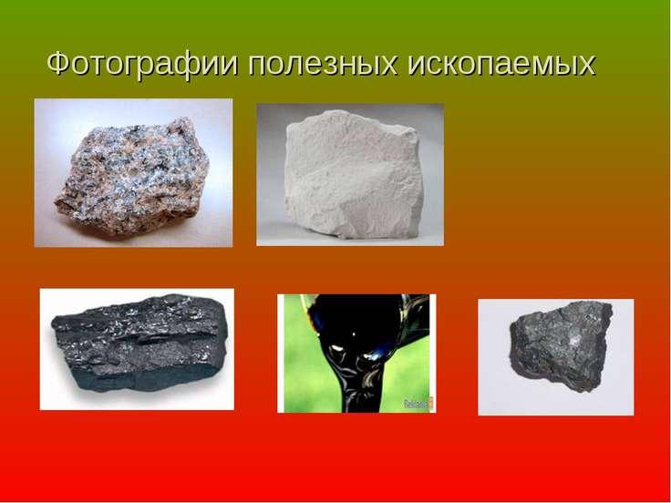 Фотографии полезных ископаемых