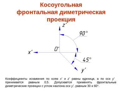 Коэффициенты искажения по осям x и z равны единице, а по оси y принимается ра...