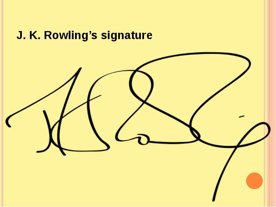 J. K. Rowling's signature