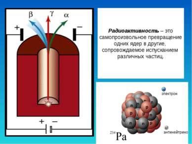 Радиоактивность – это самопроизвольное превращение одних ядер в другие, сопро...