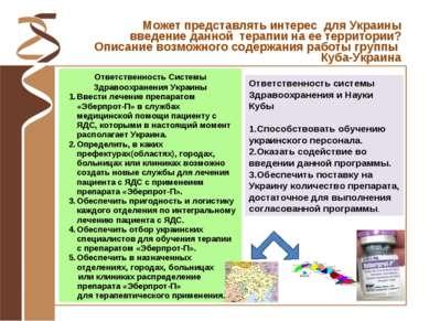 Ответственность Системы Здравоохранения Украины Ввести лечение препаратом «Эб...