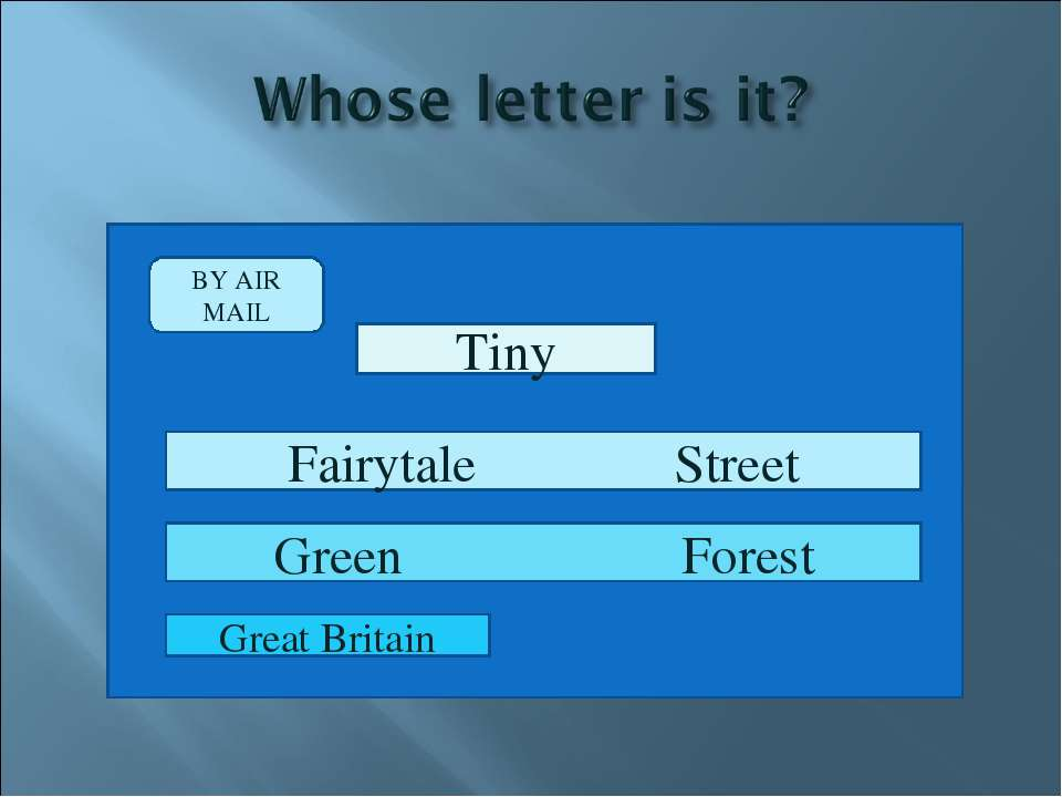 BY AIR MAIL Tiny Fairytale Street Green Forest Great Britain