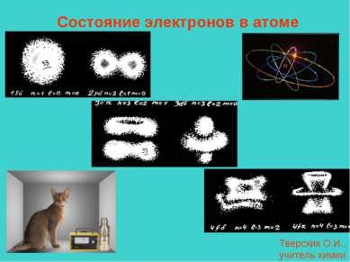 Состояние электронов в атоме Тверских О.И., учитель химии