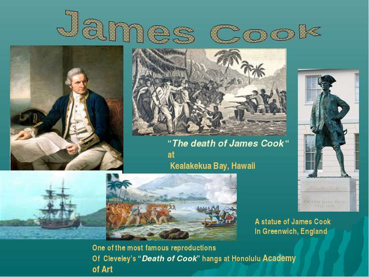 """The death of James Cook "" at Kealakekua Bay, Hawaii One of the most famous r..."