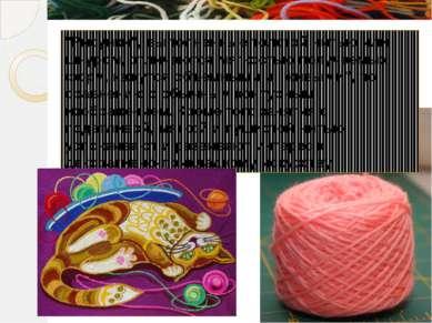 """""""Рисунки"""", выполненные толстой нитью или шнуром, отличаются мягкостью получае..."""
