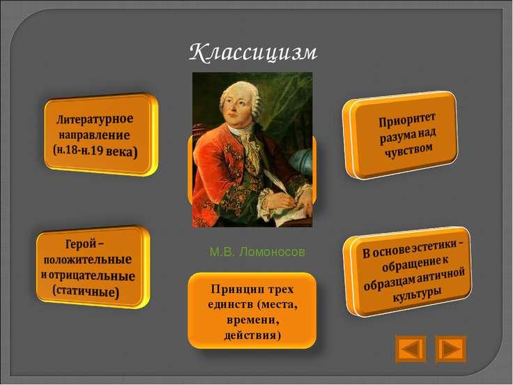 Классицизм М.В. Ломоносов
