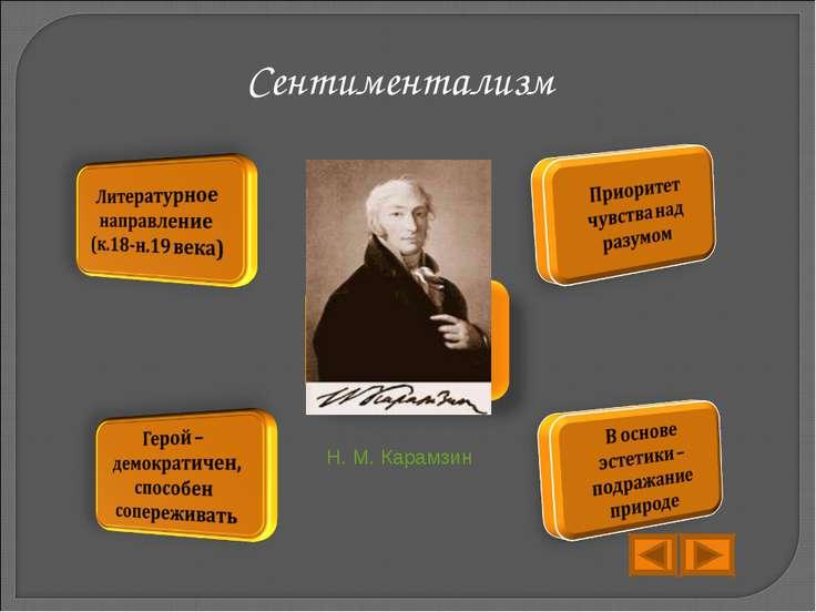 Сентиментализм Н. М. Карамзин