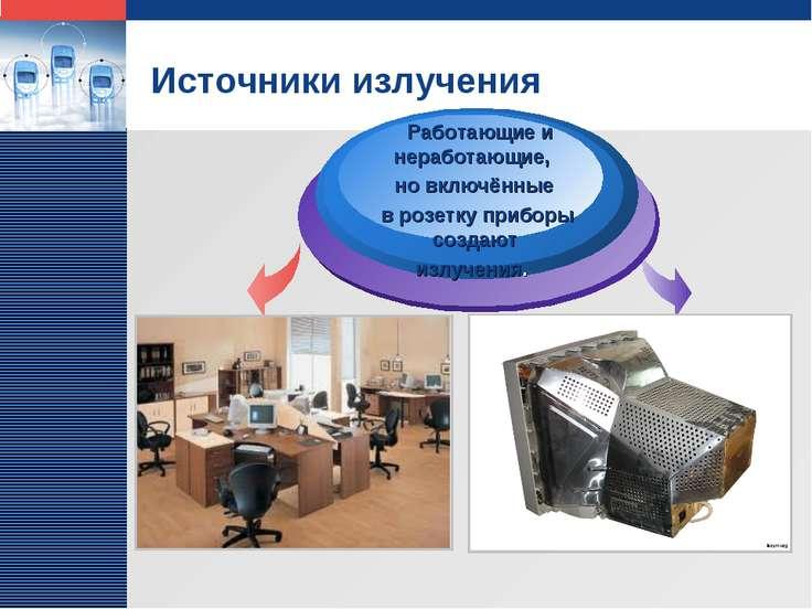 Источники излучения Работающие и неработающие, но включённые в розетку прибор...
