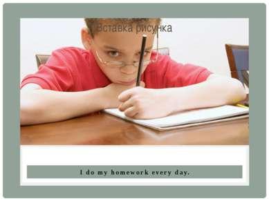 I do my homework every day.