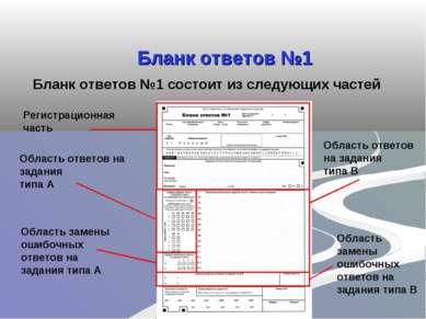 Бланк ответов №1 Бланк ответов №1 состоит из следующих частей Регистрационная...