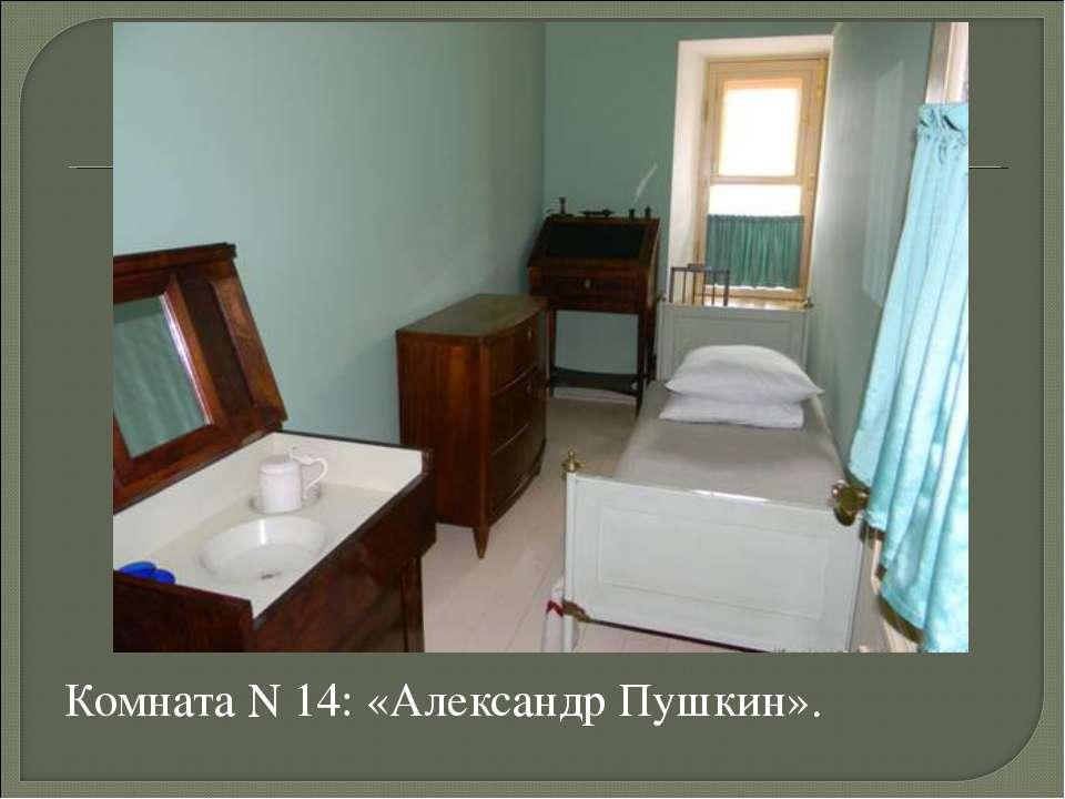 Комната N 14: «Александр Пушкин».