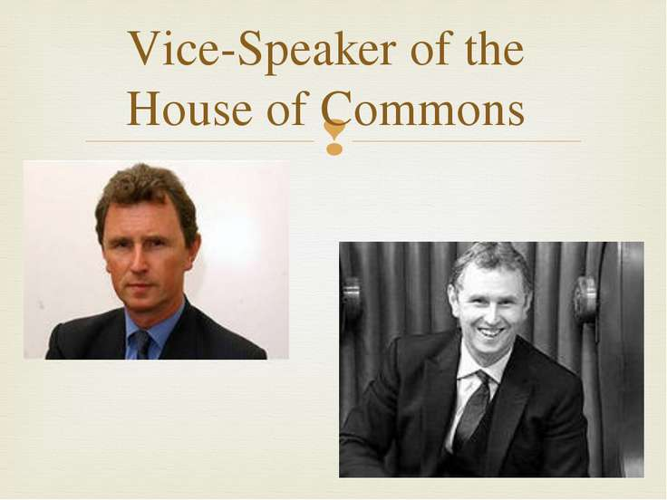 Vice-Speaker of the House of Commons