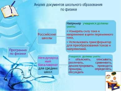 Анализ документов школьного образования по физике