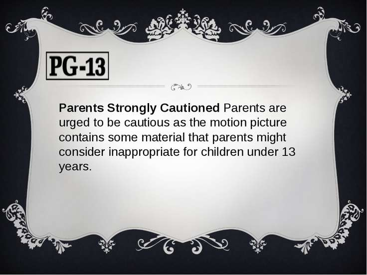 Parents Strongly Cautioned Parents are urged to be cautious as the motion pic...