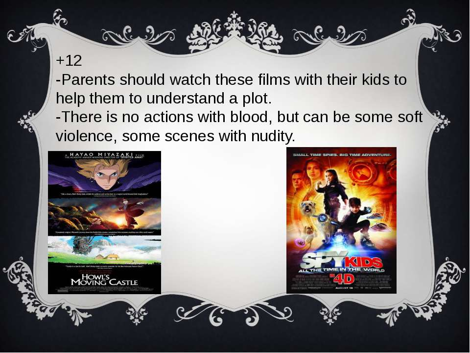 +12 -Parents should watch these films with their kids to help them to underst...