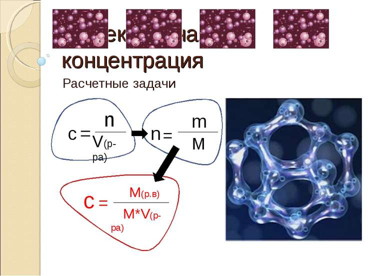 Молекулярная концентрация Расчетные задачи