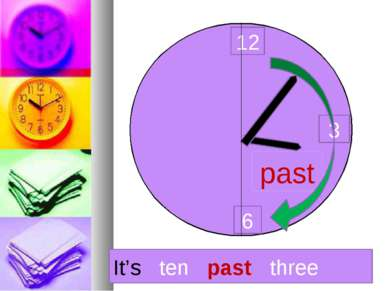 12 3 6 past It's ten past three
