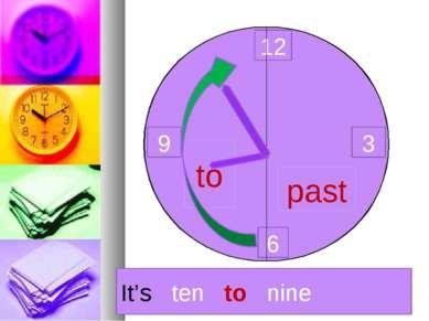 12 3 6 9 past to It's ten to nine
