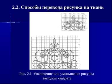 2.2. Способы перевода рисунка на ткань Рис. 2.1. Увеличение или уменьшение ри...