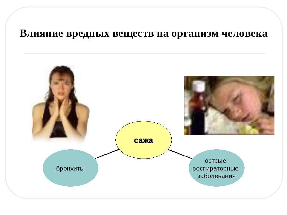Влияние вредных веществ на организм человека