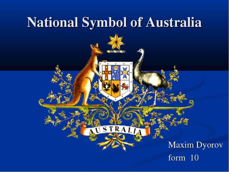 National Symbol of Australia Maxim Dyorov form 10