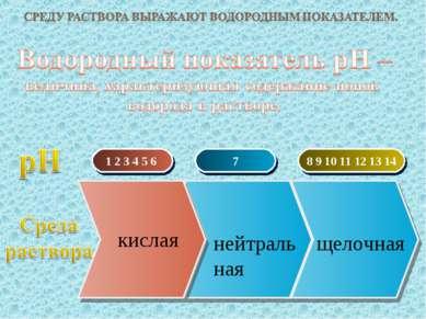 1 2 3 4 5 6 7 8 9 10 11 12 13 14 кислая нейтральная щелочная