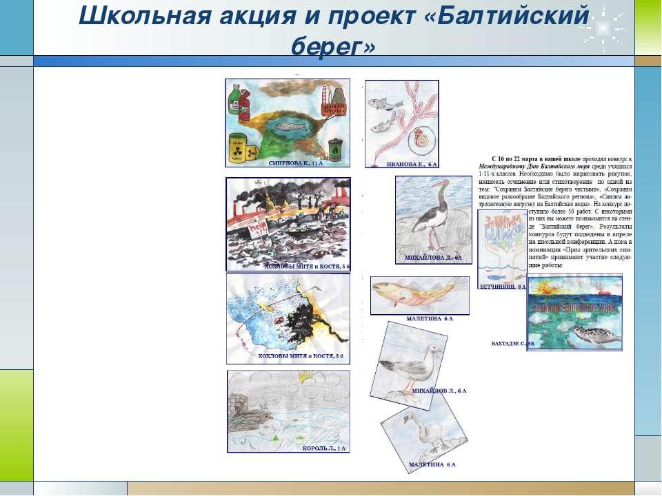 Школьная акция и проект «Балтийский берег»