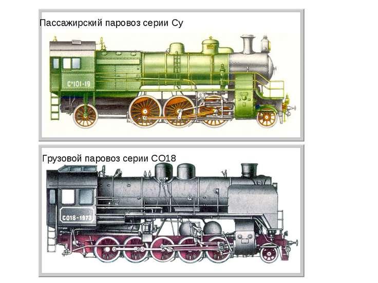 Пассажирский паровоз серии Су Грузовой паровоз серии СО18